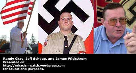 White Supremacists Randy Gray, Jeff Schoep, and James Wickstrom